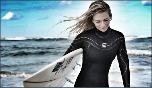 Teillah McGuinness South African Born Pro Surfer and Sports Model in the new campaign for Extreme Lounging B Bag 'For Those Who Earn it'