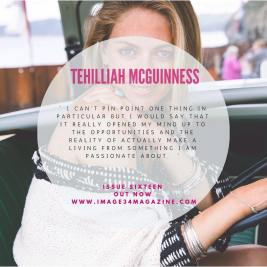Tehillah McGuinness, South African Born Pro Surfer, Sports Illustrated Sports Model, Celebrity, Charity Volunteer, Entrepreneur and Celebrity Fitness Trainer Features in a 12 page exclusive with Image 34 Magazine