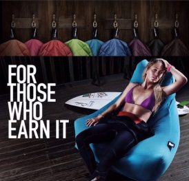 Tehillah McGuinness, South African Born Pro Surfer, Sports Illustrated Sports Model, Celebrity, Charity Volunteer, Entrepreneur and Celebrity Fitness Trainer is the face of the latest Extreme Lounging Bean Bag Campaign