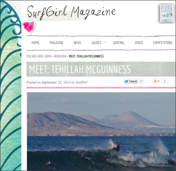 Tehillah McGuinness South African Born Pro Surfer Interview with Surfgirl