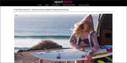 South African Pro Surfer and Sport Stylist Tehillah McGuinness interview with Sport Stylist
