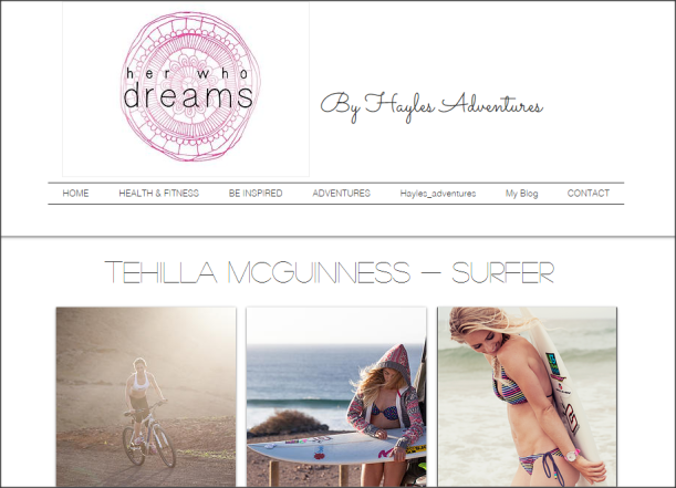 Her who Dreams interviews Tehillah McGuinness South African born Pro Surfer, sports model and sport style icon