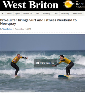 Pro Surfer Tehillah McGuinness brings Surf and Fitness weekend to Newquay in August