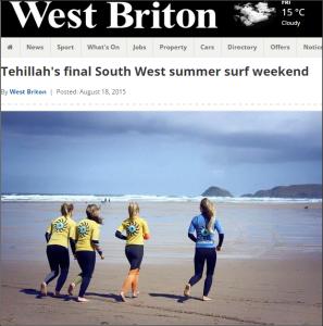 Pro Surfer Tehillah McGuinness final South West Summer Surf Weekend