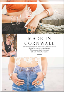 South African born Pro Surfer Tehillah McGuinness in the Cornwall Life September issue