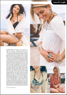 South African born Pro Surfer and sports model Tehillah McGuinness in the Cornwall Life September issue
