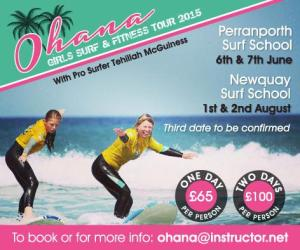 UK Girls Surf and Fitness Tour with Pro Surfer and S[orts Model Tehillah McGuinness