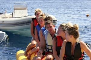 Pro Surf Tehillah McGuinness diving in Egypt