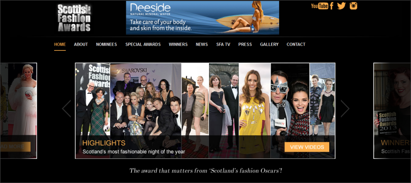 Tehillah McGuinness Model,  Pro Surfer and ambassador for Deeside Water at the Scottish Fashion Awards 2014