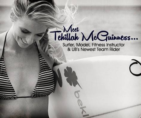 Tehillah McGuinness South African Pro Surfer, sports model, Celebrity Fitness Trainer and Athlete signs with Urban Beach UK
