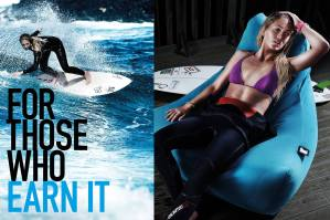 South African Born Pro Surfer Tehillah McGuinness in the new campaign for Extreme Lounging - For Those Who Earn It.