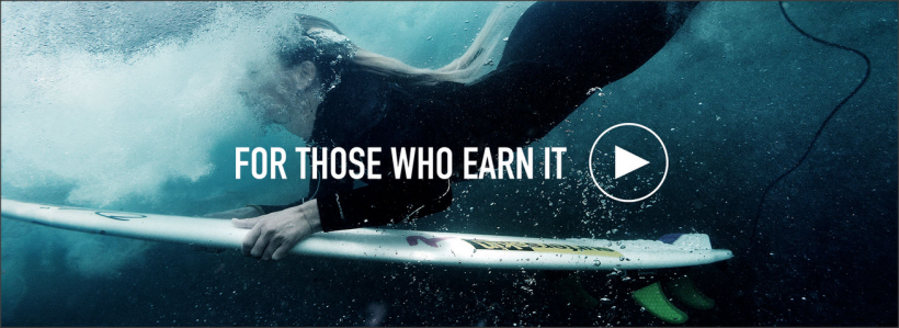 South African born Pro Surfer Tehillah McGuinness in the new 'For Those Who Earn It' campaign  for  Extreme Lounging B Bag.