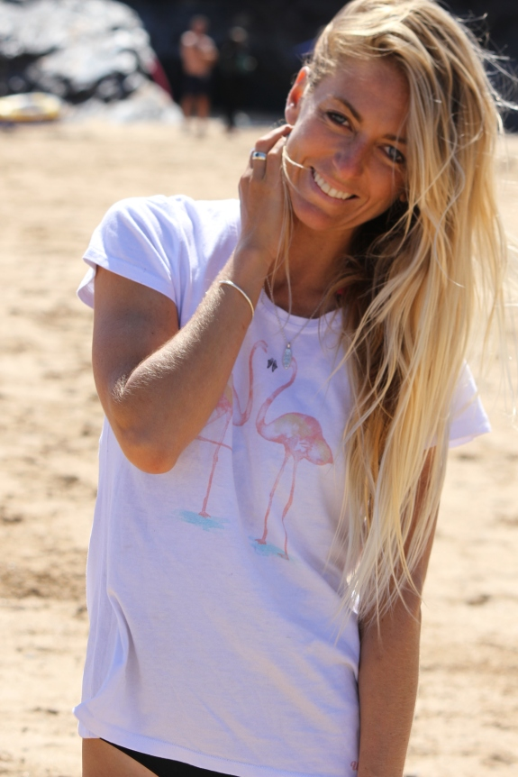 Cornwall celebrity pro surfer Tehillah McGuinness. South African Born Celebrity Fitness Trainer, blogger, presenter, athlete, entrepreneur, interview with Great Venture Surf CO
